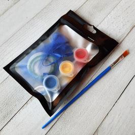 Kit DIY de pendentif (1) à peindre pour enfants, peintures incluses