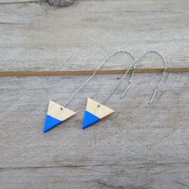 """Chaînes d'oreilles en acier inox avec triangles 3/4"""""""