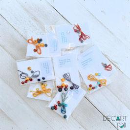 Kit DIY de bracelet à assembler pour enfants - bois et plastique (à l'unité)