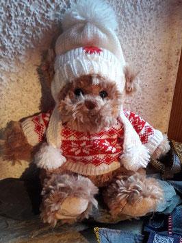 Winterbär mit weisser Mütze
