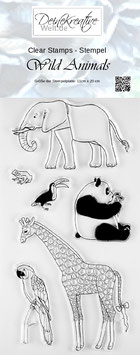 DKW Clear Stamps Wild Animals - Stempel Wilde Tiere