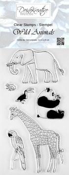 DKW Clear Stamps Wild Animals - Stempel Wilde Tiere