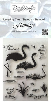 DKW Layering Stamp - Stempel Flamingo
