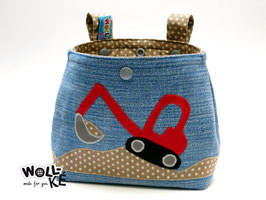 Lenkertasche Jeans-Upcycling Bagger