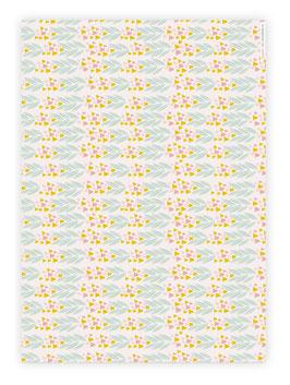 Geschenkpapier-Bogen ›Spring Bloom, Tulpenwiese‹