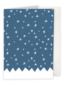 Schnee mit Bergen / blau