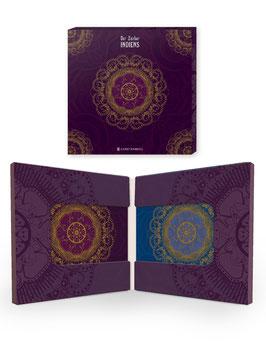 Acryl-Untersetzer in Geschenkschachtel / Lila & Blau ›Indien‹