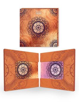 Acryl-Untersetzer in Geschenkschachtel / Orange & Pink ›Indien‹