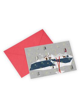 Adventskalender-Grußkarte ›Hüttenzauber‹