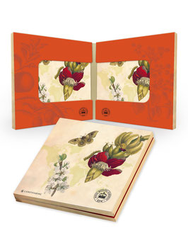 Acryl-Untersetzer in Geschenkschachtel / Schmetterling ›Kew Gardens‹