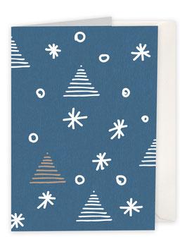 Sterne mit Weihnachtsbaum / blau