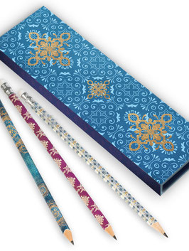 Bleistifte in Geschenkschachtel ›Indien‹