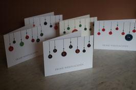 Weihnachtskarte- Knopfkugel