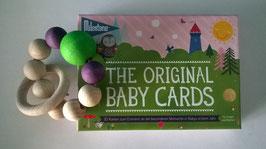 Geschenkset Geburt MILESTONE Cards + Naturholzgreifling
