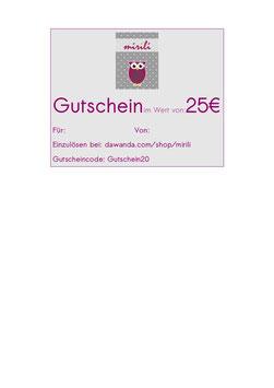 Gutschein über 25 €