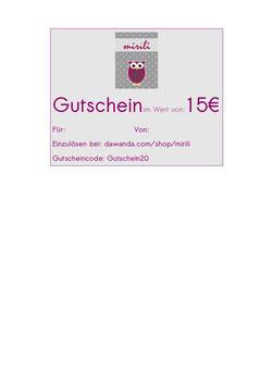 Gutschein über 15 €