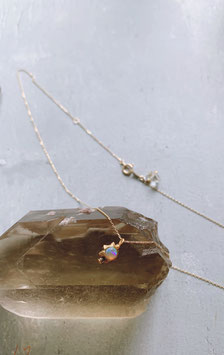 Upala ×Herkimer diamond necklace GOLD   NEW!!