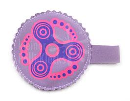 Handspinner Tasche (Lila/ Pink) aus Softshell mit Wunschname