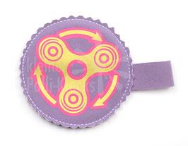 Handspinner Tasche (Gold/ Pink) aus Softshell mit Wunschname