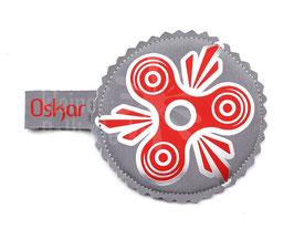 Handspinner Tasche (Rot/Silber) aus Softshell mit Wunschname