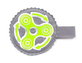 Handspinner Tasche (Grün/ Silber) aus Softshell mit Wunschname