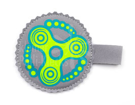 Handspinner Tasche (Grün/Türkis) aus Softshell mit Wunschname