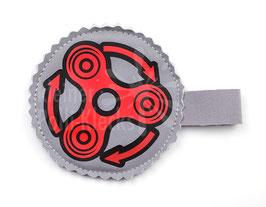 Handspinner Tasche (Rot/ Schwarz) aus Softshell mit Wunschname
