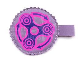 Handspinner Tasche (Lila/ Pink) aus Softshell Flieder mit Wunschname