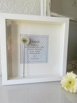 """Erinnerungsbild """"Pusteblume"""" zur Taufe, Geburt, Hochzeit"""