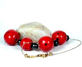 Collier Ethnique Perle Rouge et Noir
