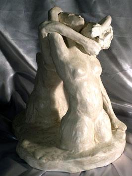 """""""Les Enlacés"""", Sculpture Romantique , Art figuratif Expressionnisme"""