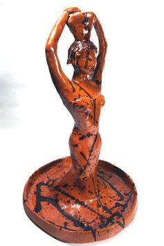 """""""La Porteuse D'Eau"""", Sculpture Céramique Art déco"""