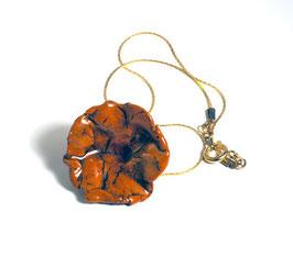 Collier Céramique Fleur Couleur Caramel