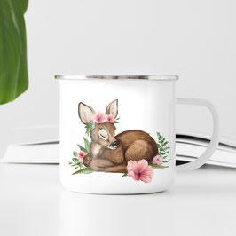 Emaille Tasse - Bambi