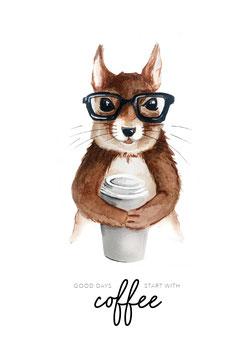 Poster | Coffee Eichhörnchen
