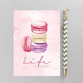 Macarons – A6 Postkarte