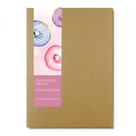 Postkarten - Sweet Aquarell Set –14