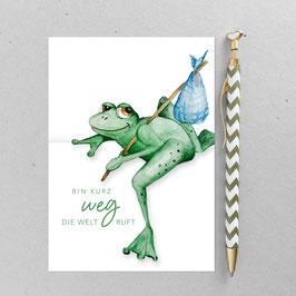 Postkarte - Frosch – A6