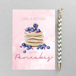 Pancakes – A6 Postkarte
