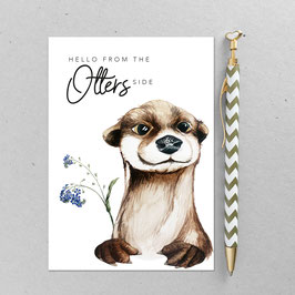 Postkarte - Otter