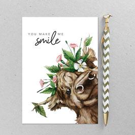Postkarte - Kuh