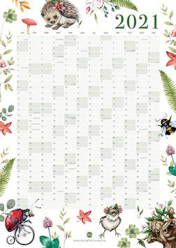 Jahresplaner -Poster - Waldtiere