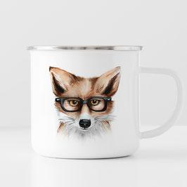 Emaille Tasse - Fuchs