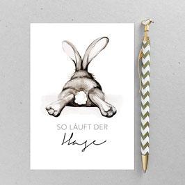 Postkarte - Chilling Rabbit - Hase