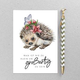 Postkarte - Igel