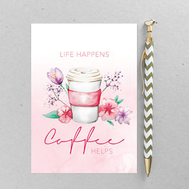 Coffee – A6 Postkarte