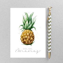 Ananas – A6 Postkarte