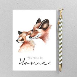 Fuchsliebe – A6 Postkarte