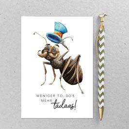 Postkarte - Ameise