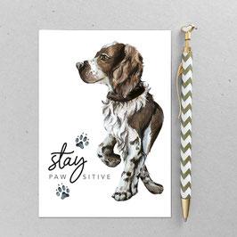 Postkarte - Jagdhund Fu